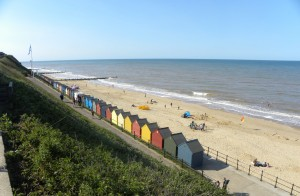 Mundesley beach from the cliff